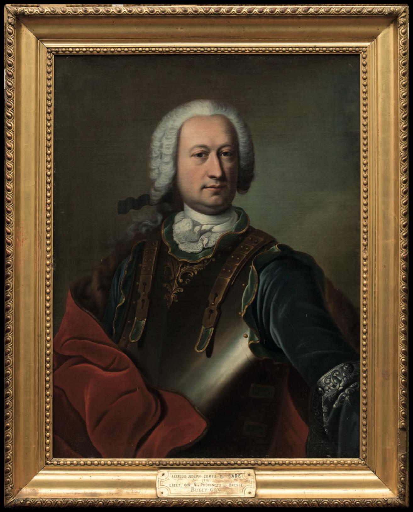 Le portrait de Jean Baptiste François de Sade (1701-1767), Comte de Sade, père du Marquis